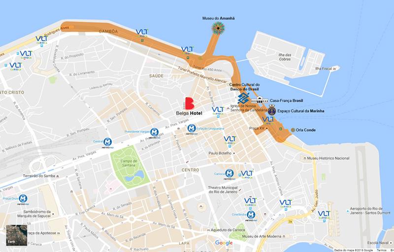 Belga Hotel - no centro histórico e cultural do Rio de Janeiro