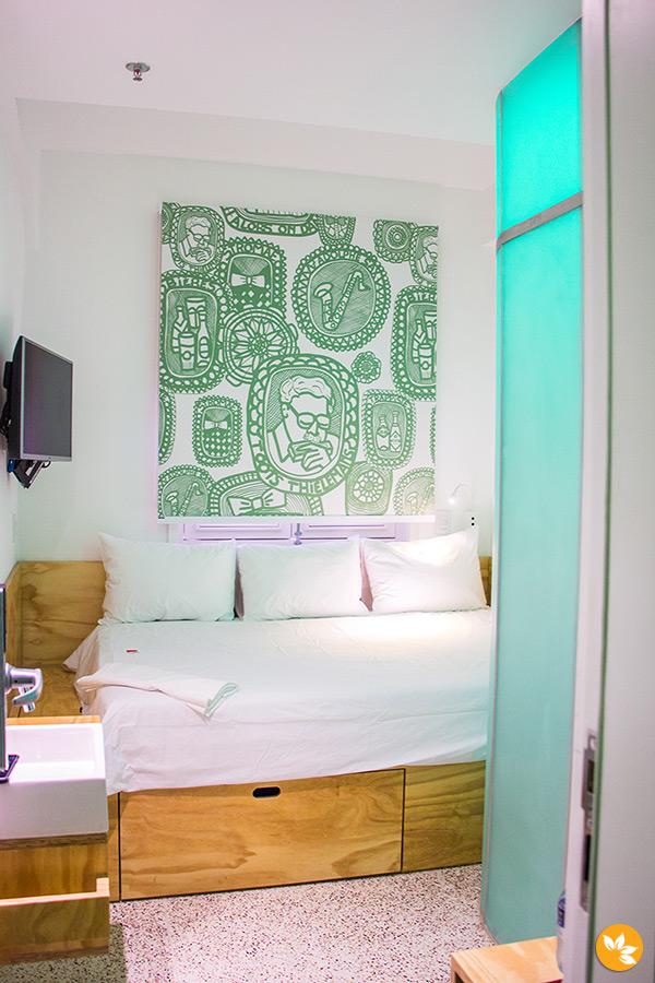 Detalhes do quarto do Belga Hotel