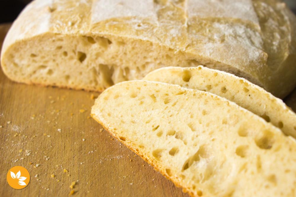 Receita de Pão Italiano com Fermentação Natural