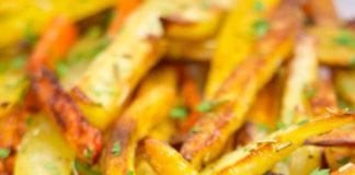 Palitos de legumes assados