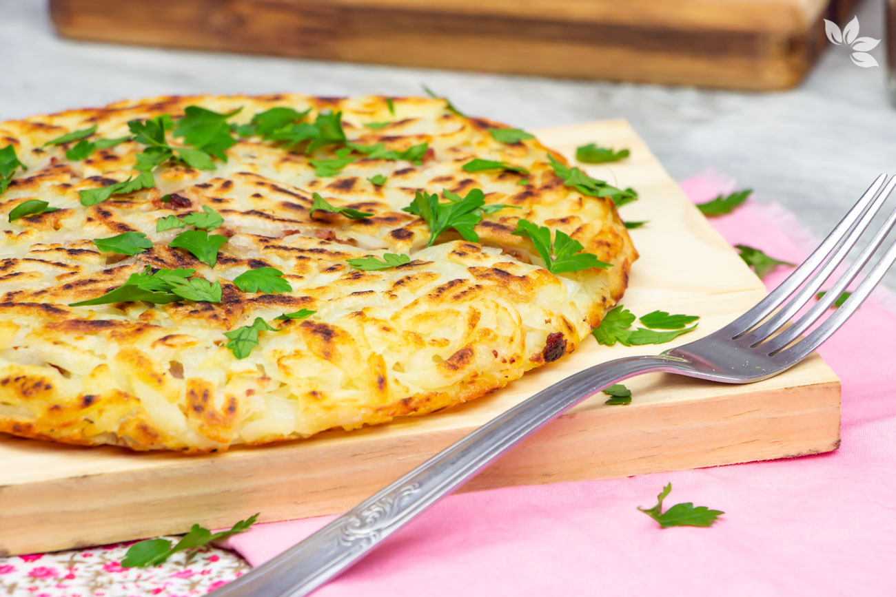 Como fazer batata rosti ou batata suíça recheada.