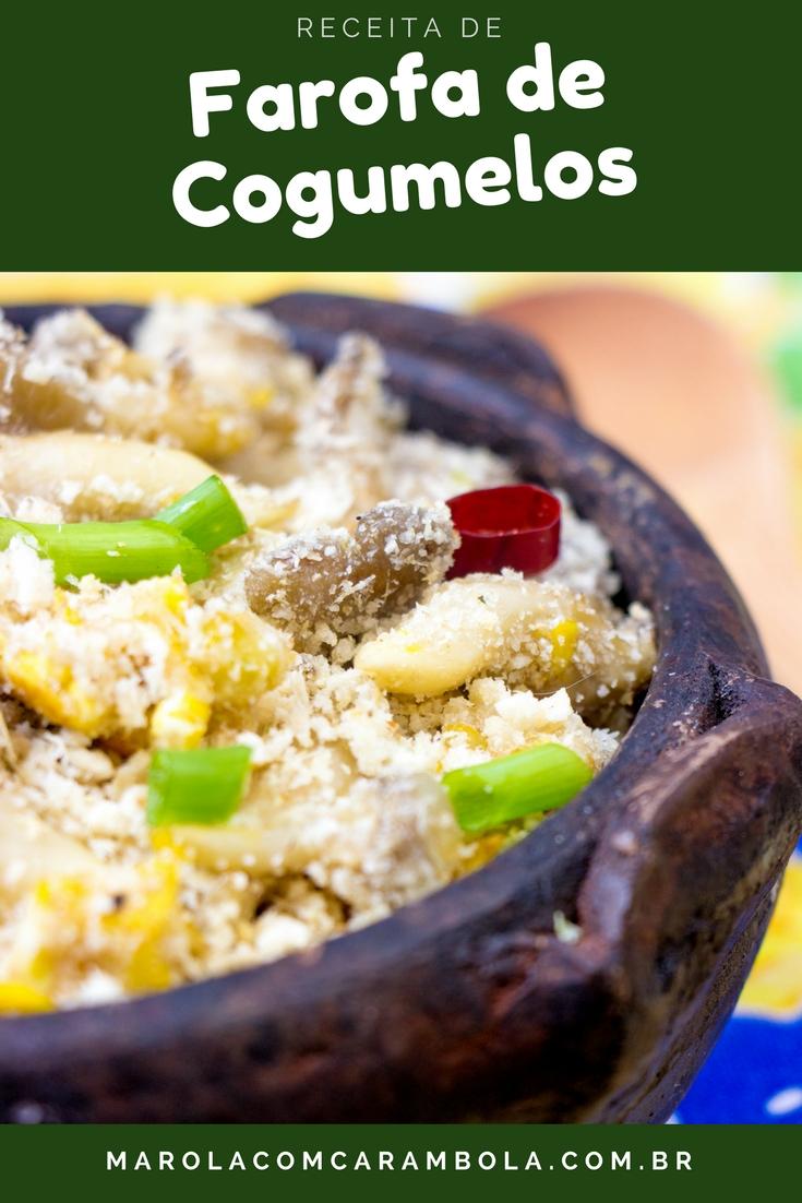 Receita de Farofa de Cogumelos