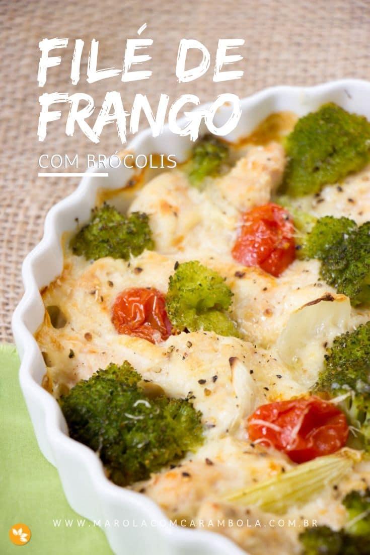 Receita fácil de Filé de Frango Assado com Brócolis