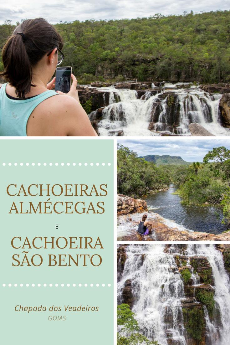 A Cachoeira Almécegas (I e II) e a São Bento são três das belíssimas cachoeiras da Chapada dos Veadeiros em Goiás. Próxima de Alto Paraíso de Goiás!
