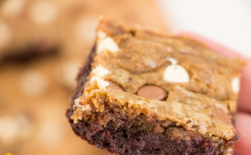 Receita de Brownie com Cookie