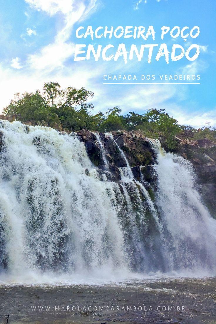 A Cachoeira Poço Encantado na Chapada dos Veadeiros é uma combinação de praia com cachoeira. A trilha é fácil e no local tem até aluguel de Stand Up Paddle.