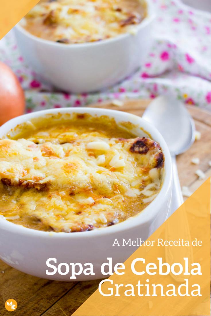 A melhor receita de sopa de cebola gratinada
