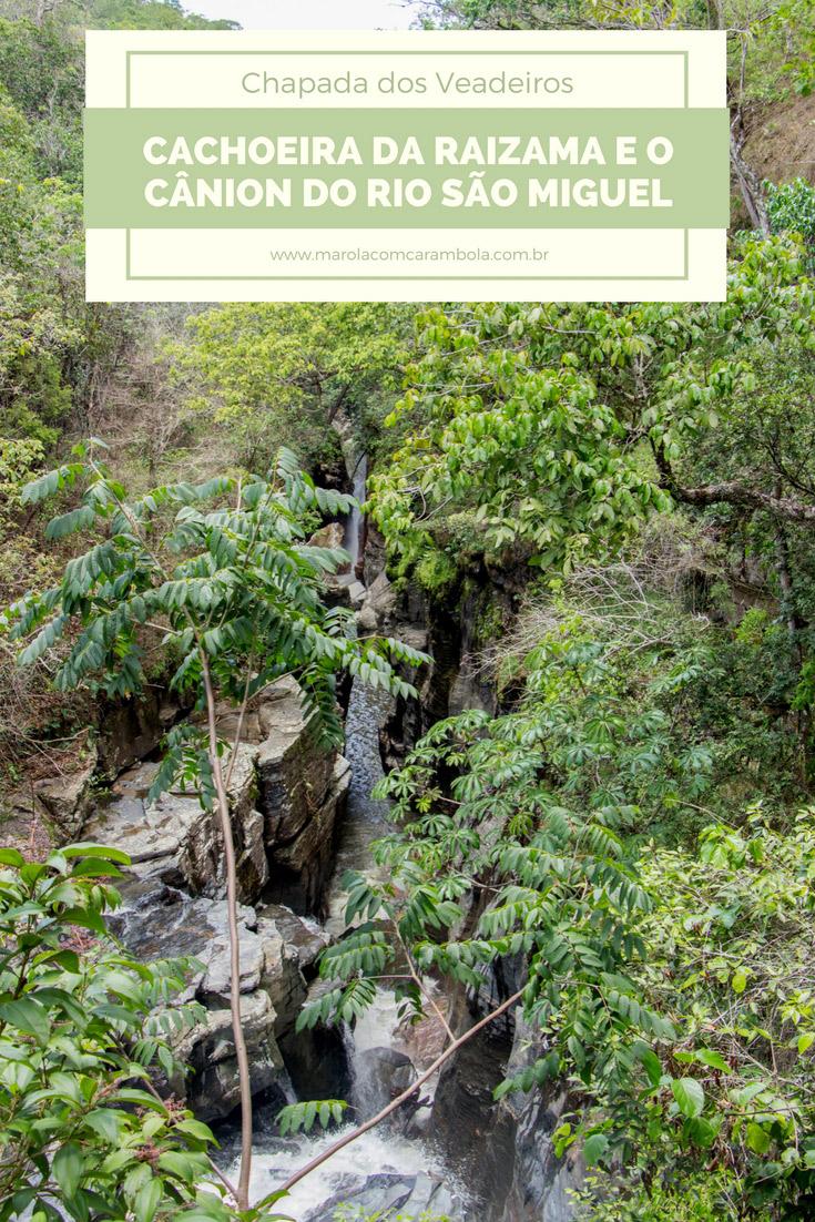 Cachoeira da Raizama – Um ótimo lugar na Chapada dos Veaderios, pertinho da Vila de São Jorge, perfeito relaxar em piscinas e hidromassagens naturais.