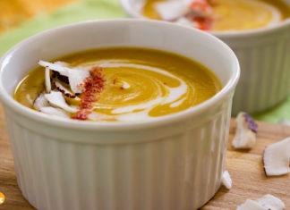 Receita de Sopa de Abóbora com Coco
