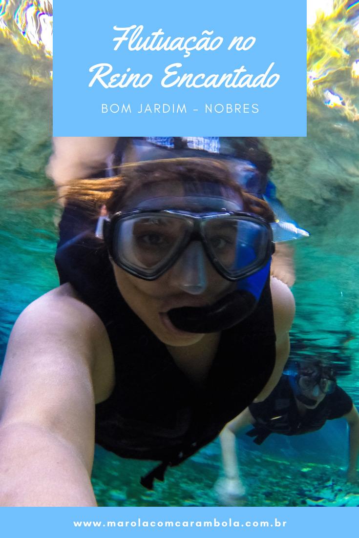 Flutuação no Reino Encantado - Uma descida perfeita pelo Rio Salobra, num percurso de 1200 metros, com peixes, vegetações e todo habitat embaixo d'água.