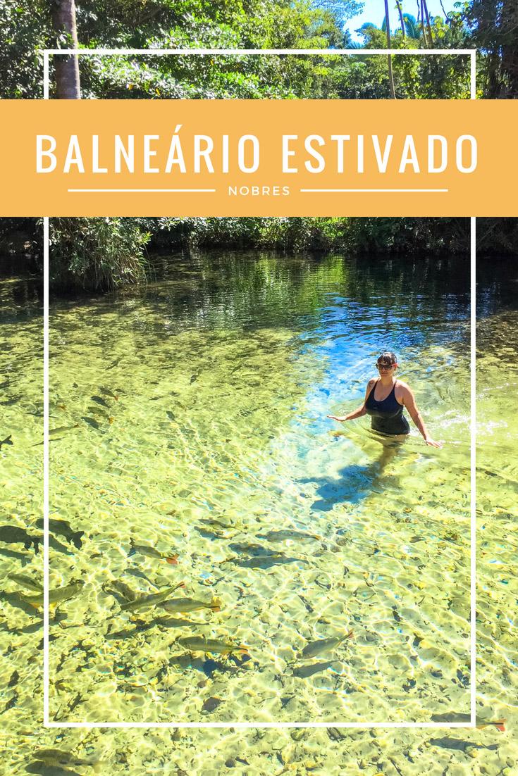 O Balneário Estivado é um desses lugares para sentar, curtir e relaxar durante a viagem em Nobres no estado do Mato Grosso. Nade com peixinhos, é muito bom!