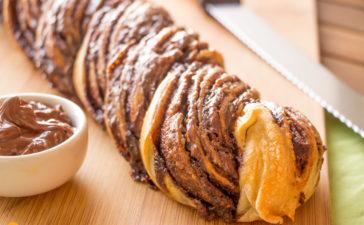 Receita de Pão Recheado de Nutella
