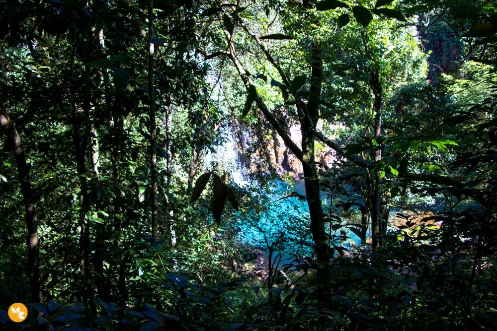 O visual da cachoeira é belíssimo