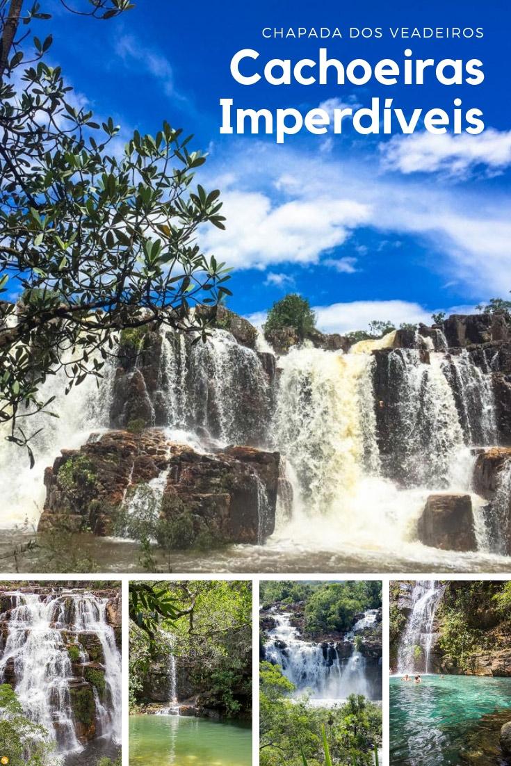 Chapada dos Veadeiros - Seleção com as melhores cachoeiras: Cachoeira Santa Bárbara, Loquinhas, Almécegas I e II, Catarata dos Couros e Poço Encantado.