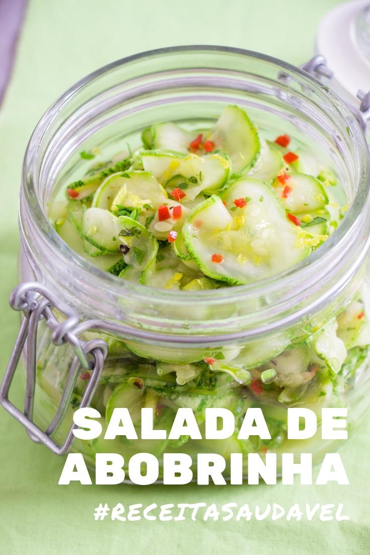 Receita de Salada de Abobrinha Crua