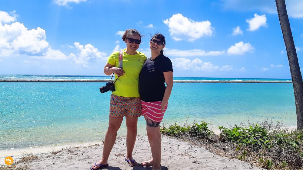 Eloah e Amanda na Praia de Muro Alto