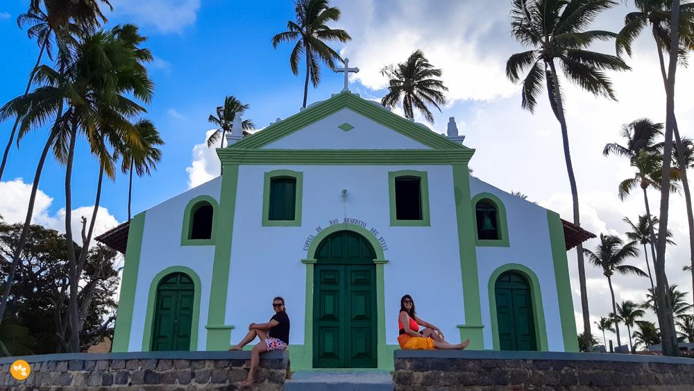 Eloah e Amanda na Igreja de São Benedito