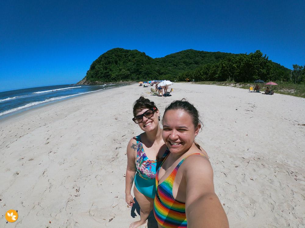 Amanda e Eloah na Praia da Juréia em São Sebastião - Litoral Norte de São Paulo