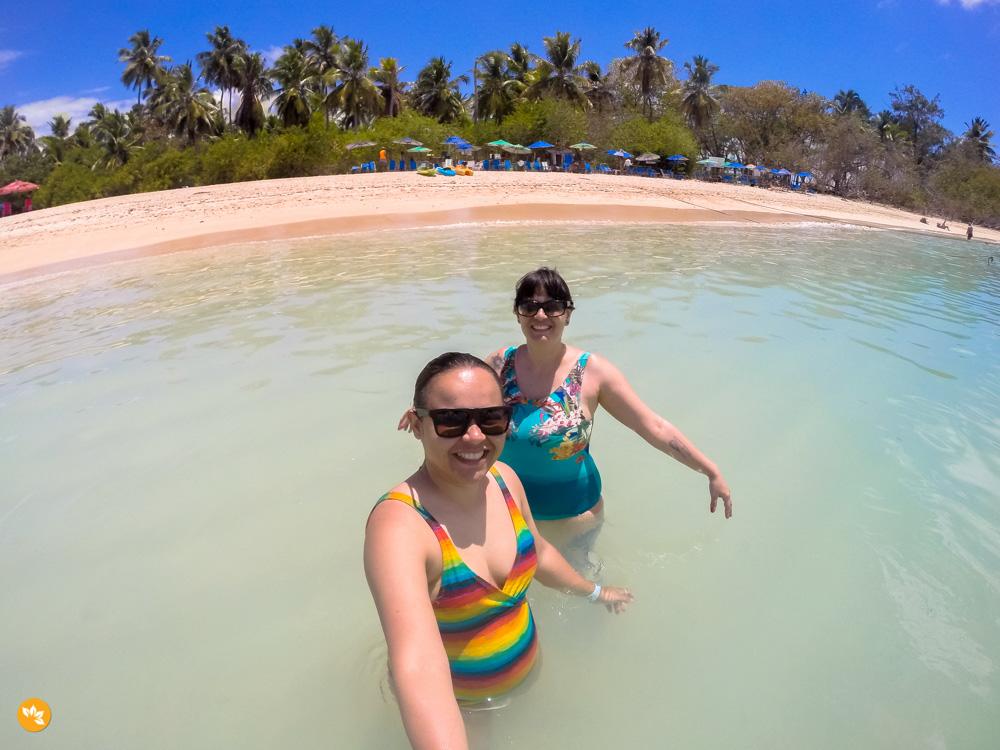 Amanda e Eloah na Ilha de Santo Aleixo