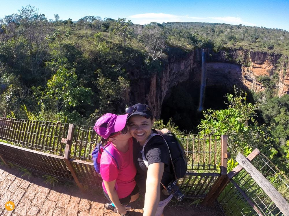 Cachoeira Véu de Noiva - cartão postal da Chapada dos Guimarães