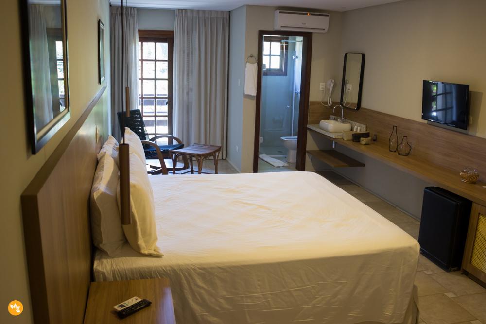 Acomodações no Amarras Hotel em São Sebastião