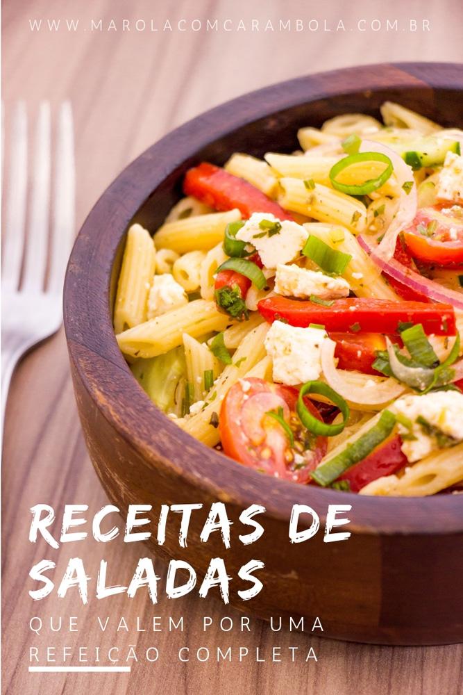 Receitas de Saladas que Valem por uma refeição completa.