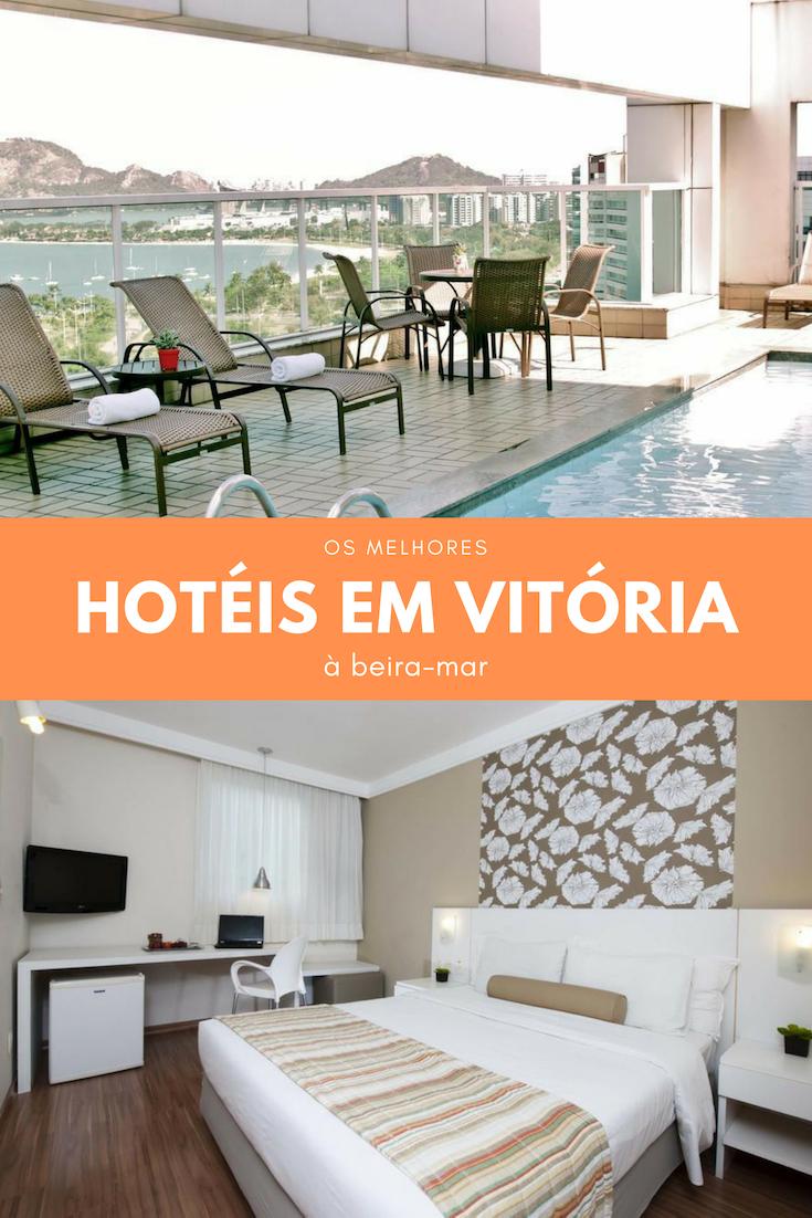 Hotéis em Vitória: seleção de hospedagem à beira-mar no charmoso estado do Espirito Santo. Escolha entre a Praia do Canto e a Praia de Camburi.