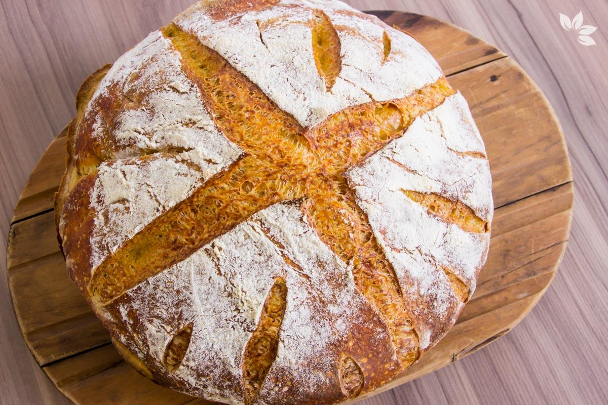 Receita de Pão de Abóbora Cabotiá