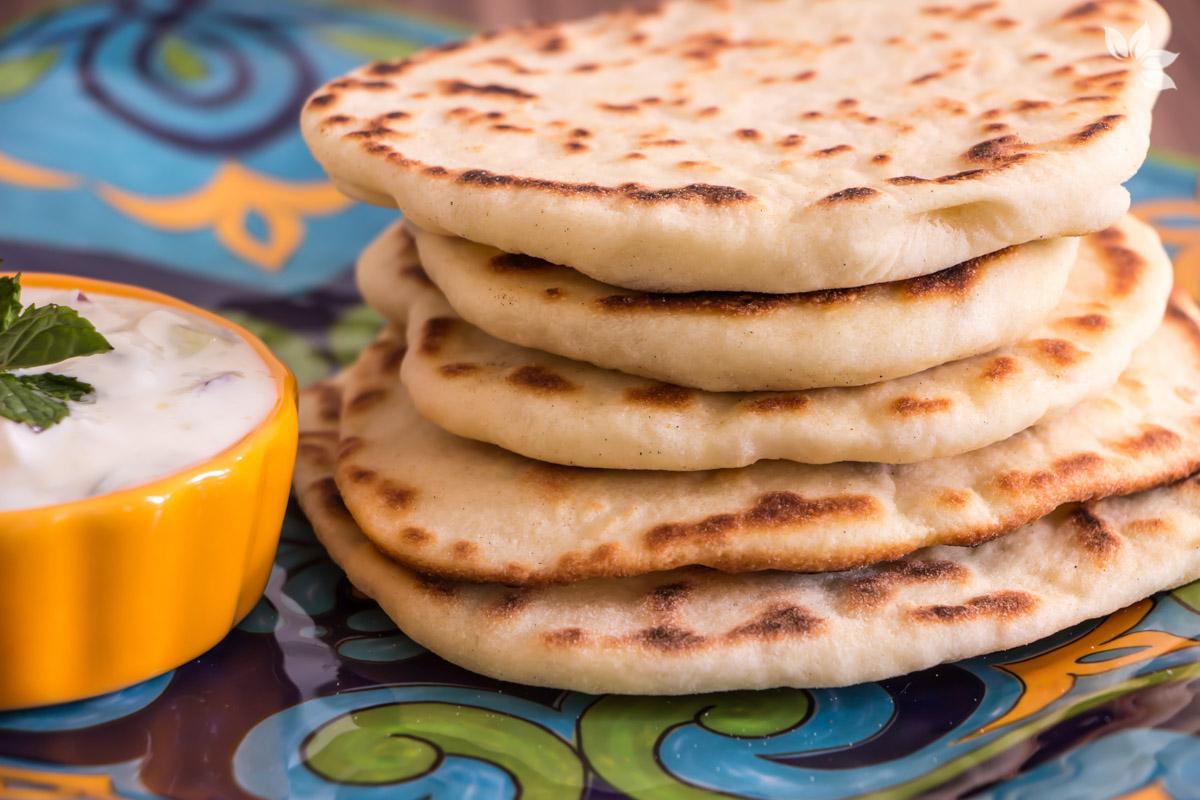 Receita de Pão Naan - Pão Indiano