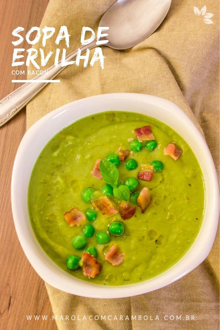 Receita de Sopa Cremosa de Ervilha