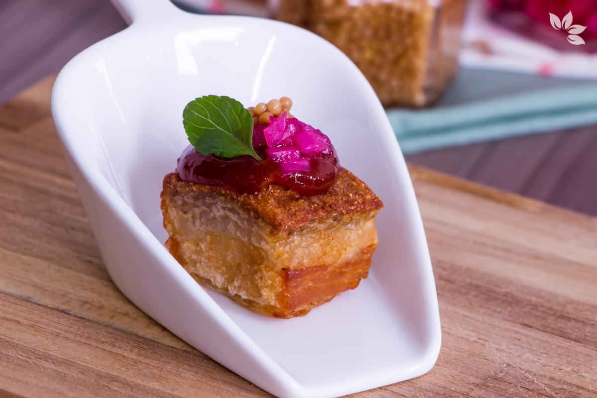 Receita de Torresmo com Goiabada - Chef Jefferson Rueda