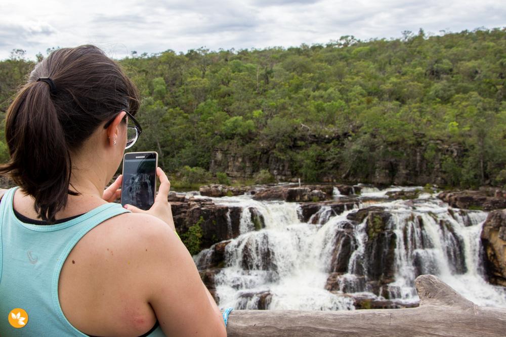 Amanda Fernandes na Cachoeira Almécegas