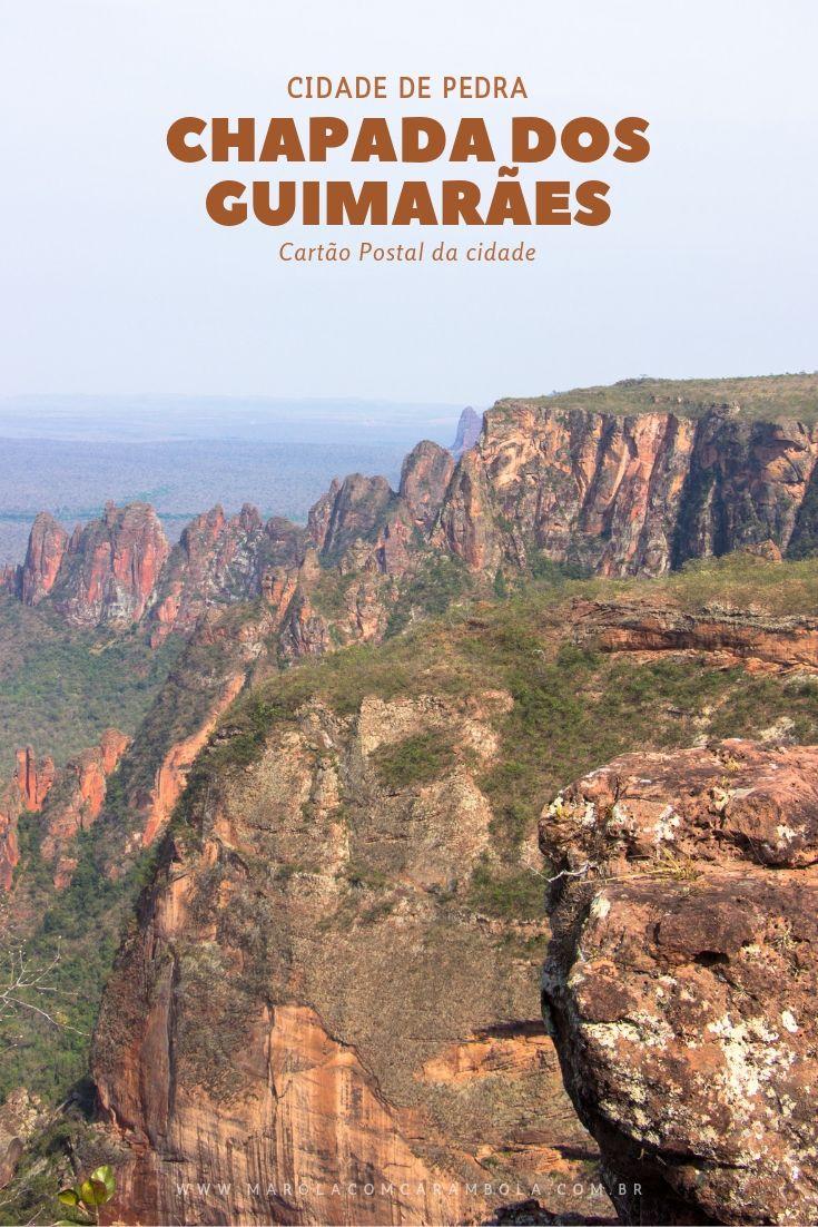 A Cidade de Pedra é um dos cartões-postais da Chapada dos Guimarães. Com 350 mt de altura, visão panorâmica do cerrado e inesquecíveis formações rochosas.