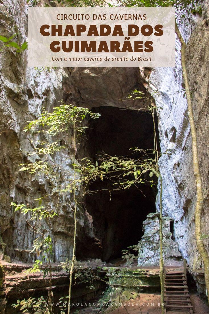 Conheça no Circuito das Cavernas na Chapada dos Huimarães: Caverna Aroe Jari (a maior caverna de arenito do Brasil), gruta da Lagoa Azul, caverna Kiogo Brado, Ponte de Pedra e Cachoeira Almíscar.