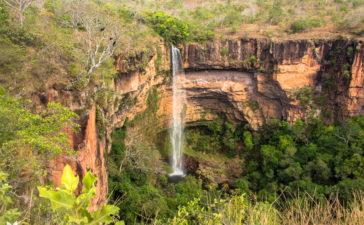 O que fazer na Chapada dos Guimarães - Cachoeira Véu de Noiva