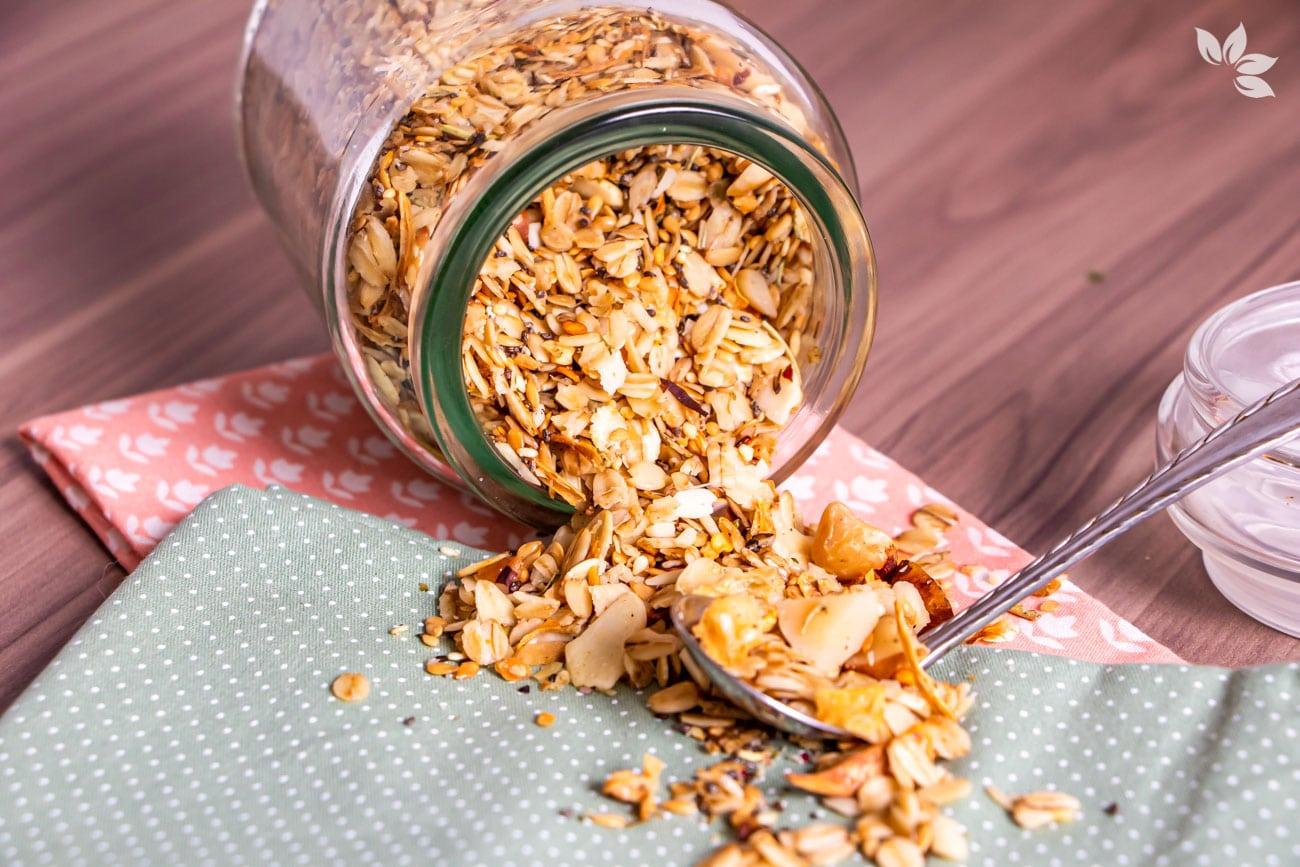 Como fazer granola salgada low carb