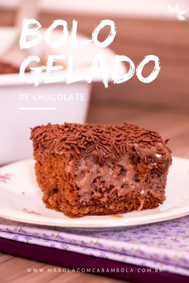 Como fazer Bolo Gelado de Chocolate com brigadeiro