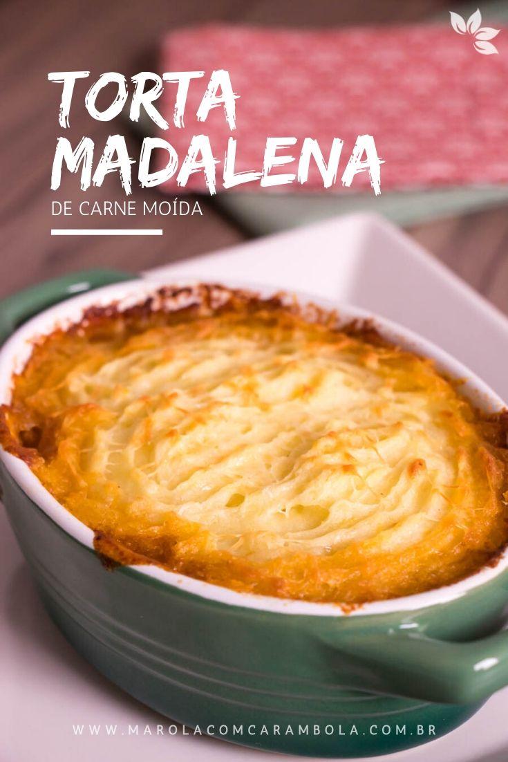 Receita de Torta Madalena de Carne Moída - receita prática para o dia a dia