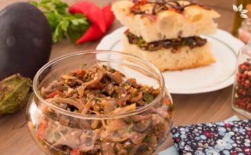 Receita de Berinjela assada para recheio de sanduíches