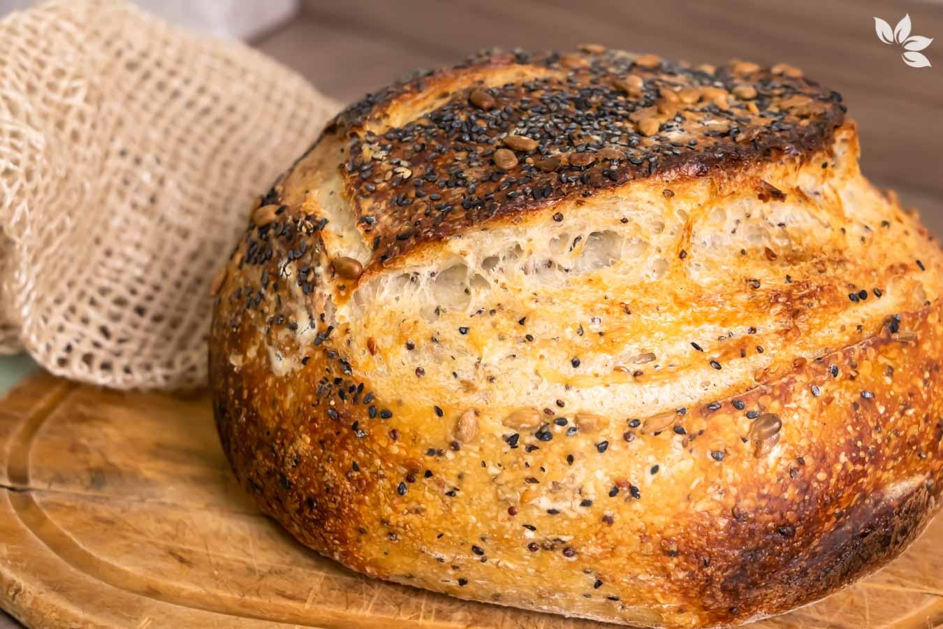 Receita de Pão de Sementes Fermentadas