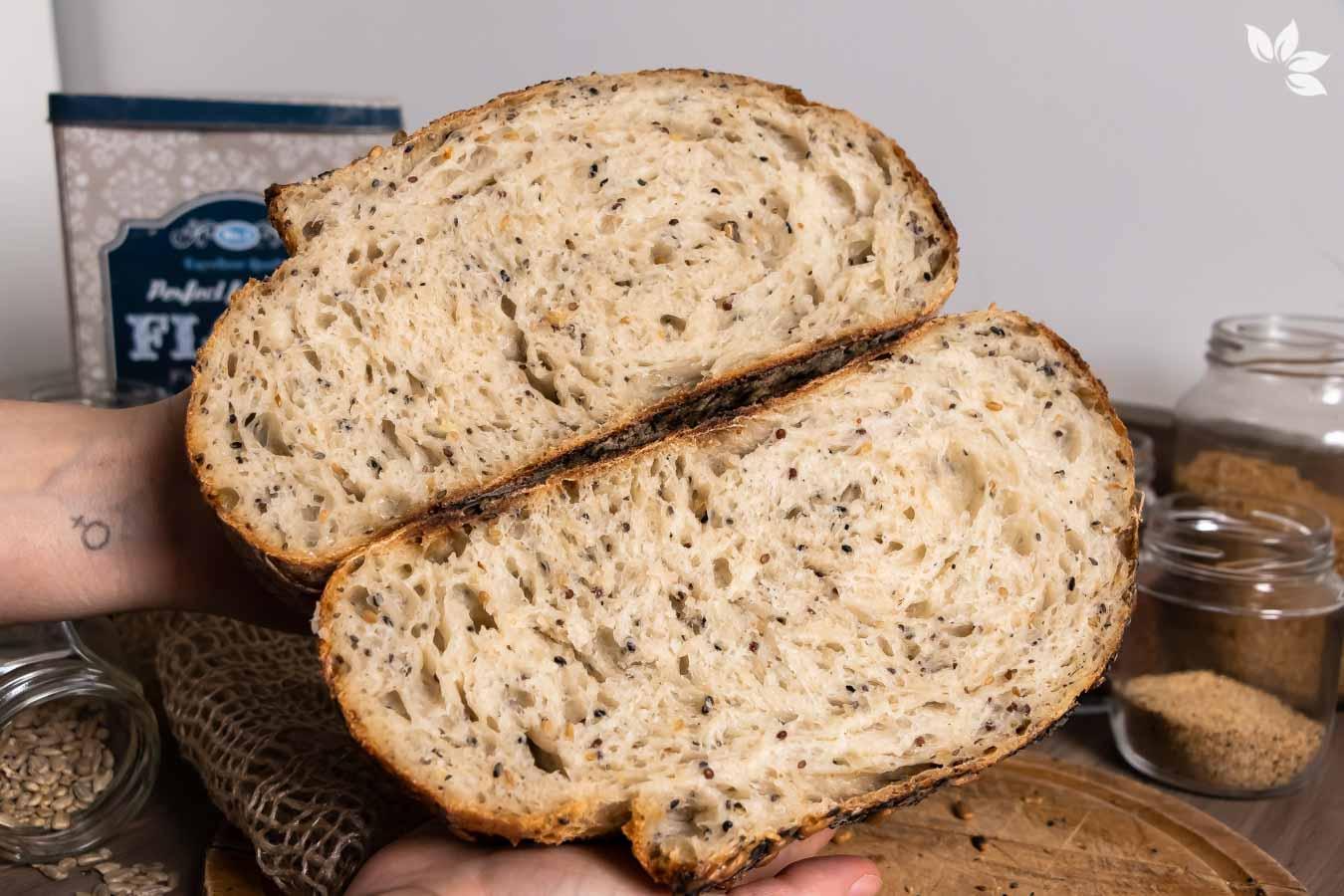 Pão de sementes fermentadas