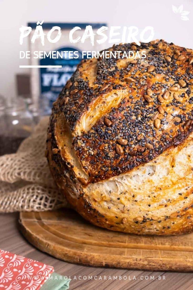 Receita de Pão de fermentação natural com sementes fermentadas