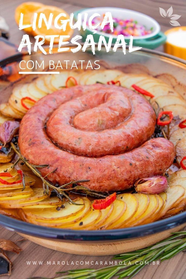 Receita de linguiça com batatas ao forno