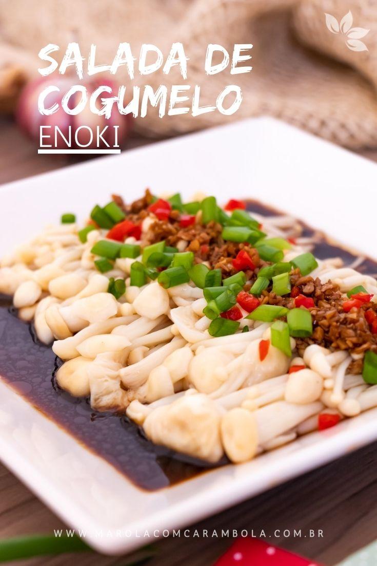 Receita de Salada de Cogumelo Enoki