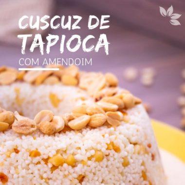Receita de Cuscuz de tapioca com amendoim
