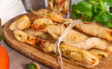 Receita de Grissini com fermento natural de pesto com tomate seco