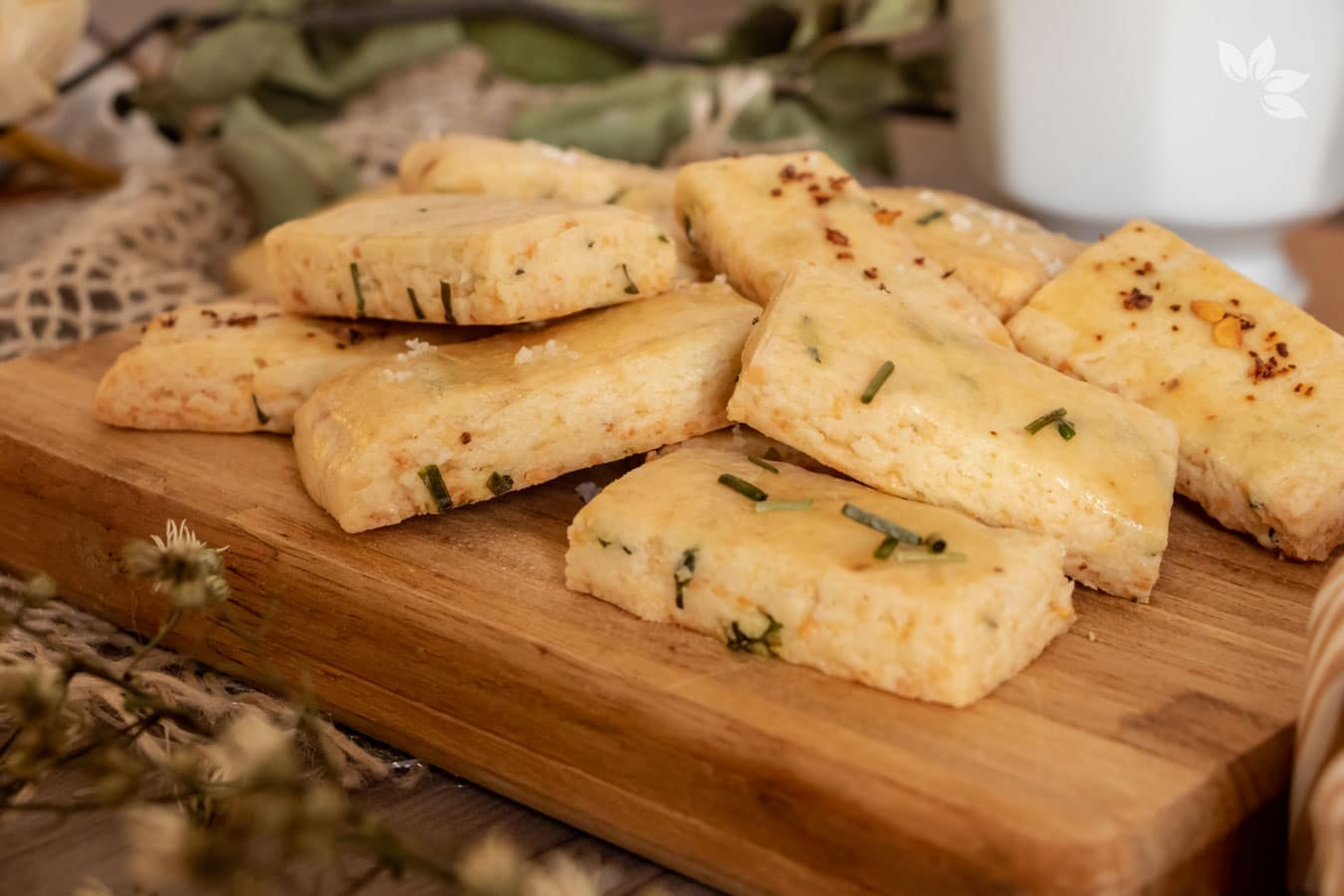 Receita de Biscoito de Parmesão com Cebolinha
